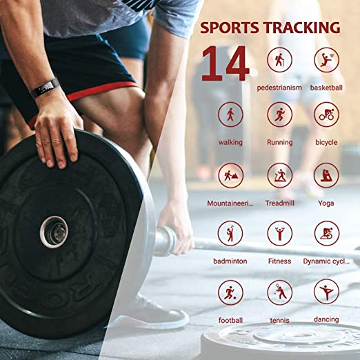 Amazon.com: Lintelek Fitness Tracker con monitor de ritmo ...