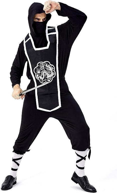 GRACIN Mens Dragon Ninja Costume Halloween Assassin Worrior Cosplay 4 Pieces Set