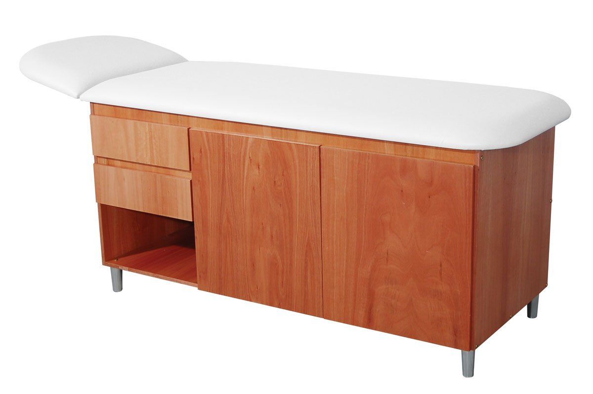 3B Scientific W15139W Classic Straight Line Table with Drawers, White Top (Pack of 1)
