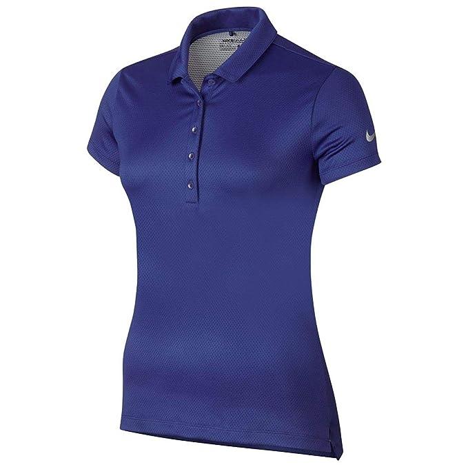 Nike W Nk Dry Polo SS Txtr - Camiseta Polo de Manga Corta de Golf ...