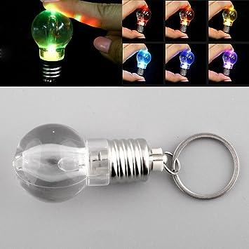 Stoog Llavero Litnerna LED, Llavero Localizador Luz de 7 Colores, Diseño Bombilla Regalo Original Funciona como Localizador de Llavero, Luz Emergencia ...