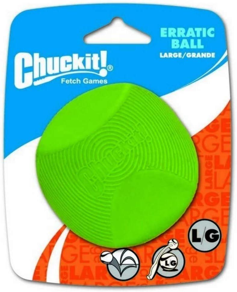 Chuckit! 20130 Erratic Ball Large, 1 Pelota para Perros Compatible con el Lanzador, L