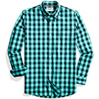 Goodthreads Men's Standard-fit Long-Sleeve Heathered Large-Scale Check Shirt
