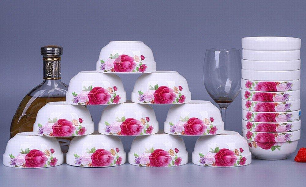 KL 20 Schalen Jingdezhen Keramik Haushalt Reis Schüssel Große Reis Schüssel Rand Schüssel Reis Schüssel,D,20