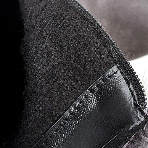 RAZAMAZA Women Boots Zipper Gray 8PPa6J