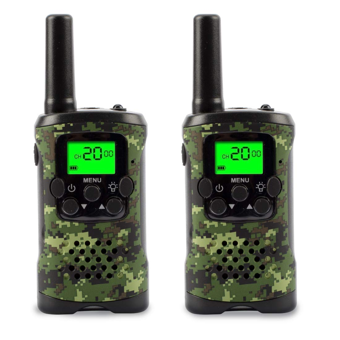 Walkie Talkies for Kids, Kids Walkie Talkies Two-Way Radios with 22 Channels FRS/GMRS Pair of Walkie Talkies for Kids, Toys for Boys and Girls (Camo)
