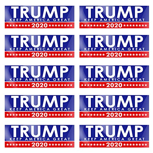 PACETAP 10 PCS 9 X 3 inch Trump 2020 Decal Car and Truck Bumper Stickers 2020 United States Presidential Election