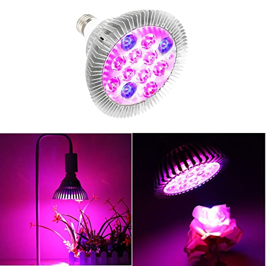 11 opinioni per SOLMORE E27 9W Grow Led Luci per piante Crescita P38 40-5730 SMD LED Lampada da