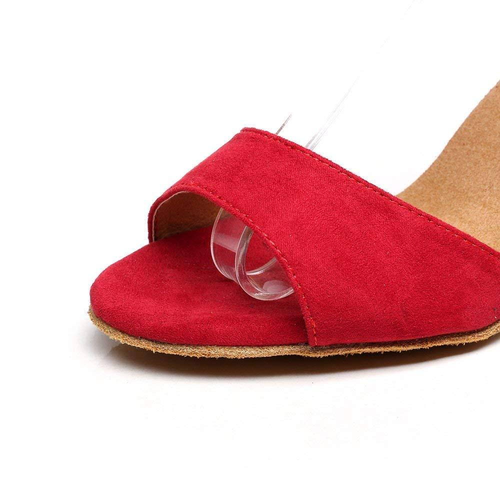 Latin Salsa Tanzschuhe für Damen Damen Damen Tango Tee Samba Modern Jazz Schuhe Sandalen High Heels Rot-Absatz 5cm-UK2.5   EU32   Our33 64dcea