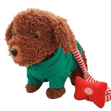Smart perro electrónico de perro de peluche cachorro Juguete paseos, Canta y batidos Tails,