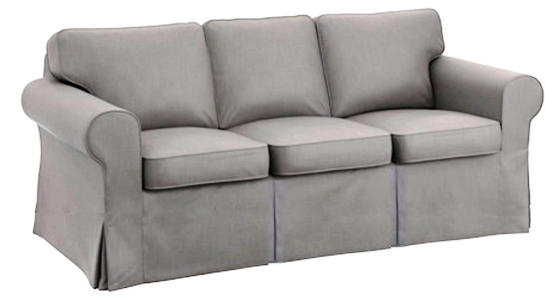 The Sofa Cover Is 3 Seat Sofa Slipcover Replacement. It Fits Pottery Barn PB Basic Three Seat Sofa (Cotton Light Gray)