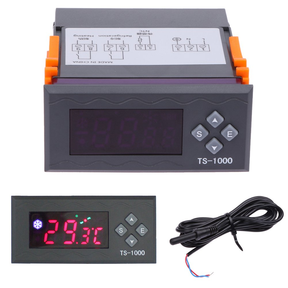 Alloet Digital Electronic Temperature Controller Thermostat Range -50℃~110℃(110V-240V 10A)