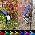 TEALP Solar Lights Outdoor 9 LEDs