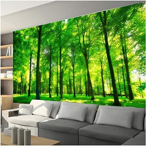 Mingld 壁紙3D森林風景大壁画牧歌3Dステレオ壁画ベッドルームレストラン背景-280X200Cm