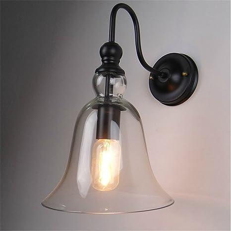 Loft europeo cubierta de cristal Bell lámpara de pared ...