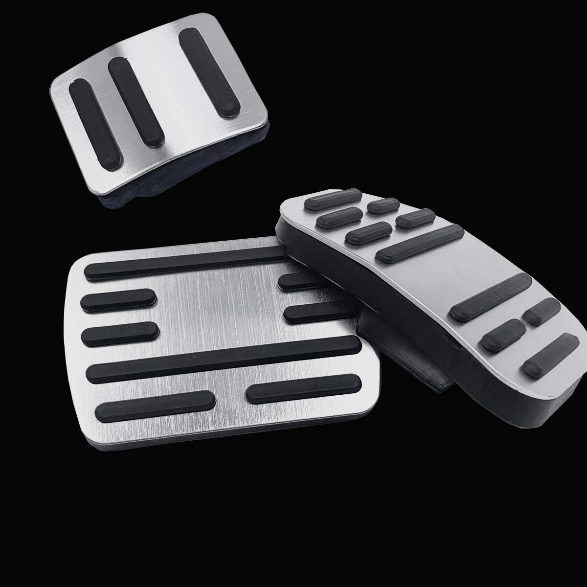 2PC Set Jaronx No Drill Pedal Covers for Ford F150 Aluminum Alloy Anti-Slip Gas Pedal Cover Break Pedal Pad at Accelerator Pedal Covers for Ford F150 2019
