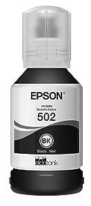 Epson T502 EcoTank Black Auto-Stop Ink Bottle (ET-2700, ET-2750, ET-3700, ET-3750, ET-4750) (T502120-S)