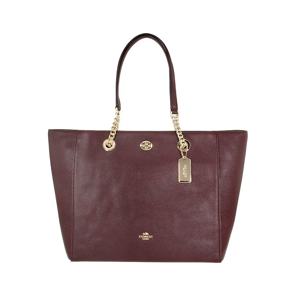 CDM product COACH Women's Pebbled Turnlock Chain Tote big image
