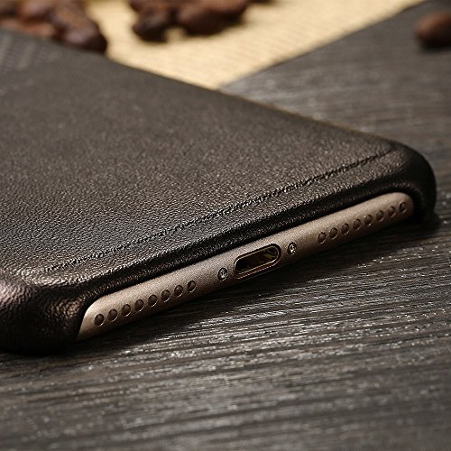 X-LEVEL Card Holder Tasche Hüllen Schutzhülle Case für iPhone 7 Plus Leather Coated Hard Phone Shell - braun