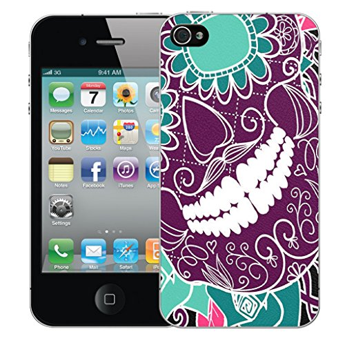 Mobile Case Mate iPhone 4s Silicone Coque couverture case cover Pare-chocs + STYLET - Grining Teeth pattern (SILICON)