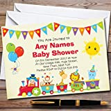 Circus Animal Train Invitations Baby Shower Invitations