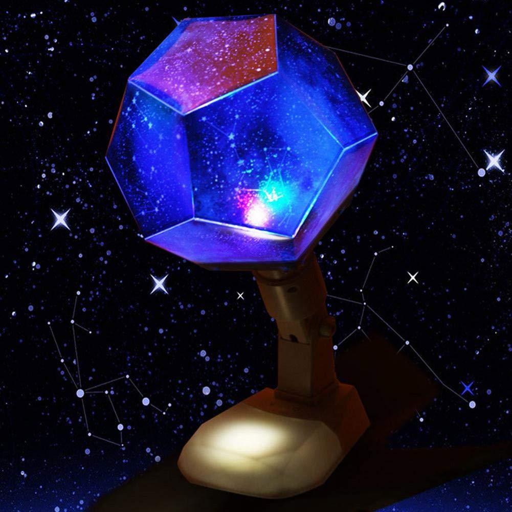 dimmable Comtervi /Étoile de nuit projecteur 12 Constellations USB rechargeable lampe de table de projection de rotation Cosmos Sky bricolage avec 7 changement de couleur