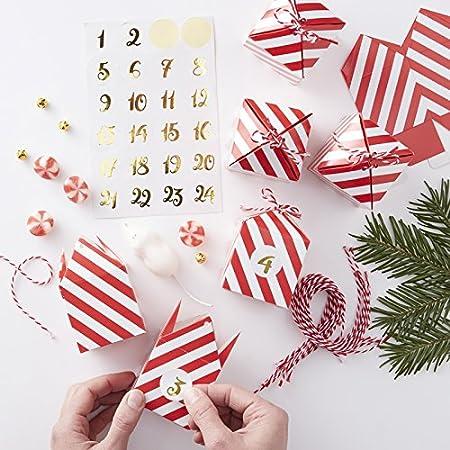 Ginger Ray Christmas Diy Make Your Own Advent Calendar Kit X 24