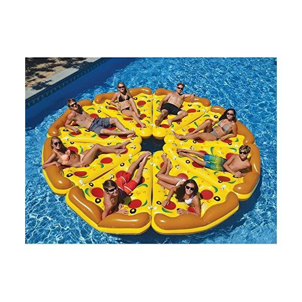YGJT Piscina Galleggiante Pizza Gigante Slice Pool Letto Galleggiante Cuscino Gonfiabile del PVC per Lo Sport Acquatico… 6 spesavip