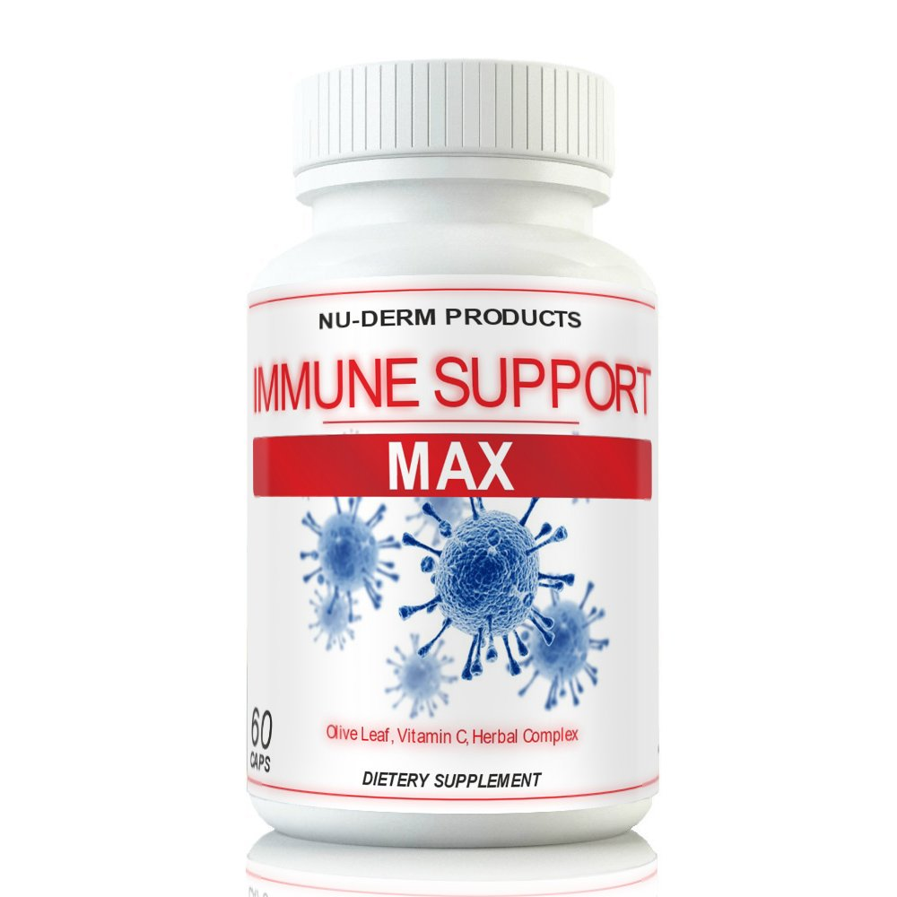 Immune Support Max Cold Sore Treatment Clear Skin of Shingles Cold sores Heal Herpes cold sores Immune Support Supplements Respiratory Health With Olive Leaf Powerful Virus Fighting Vitamins