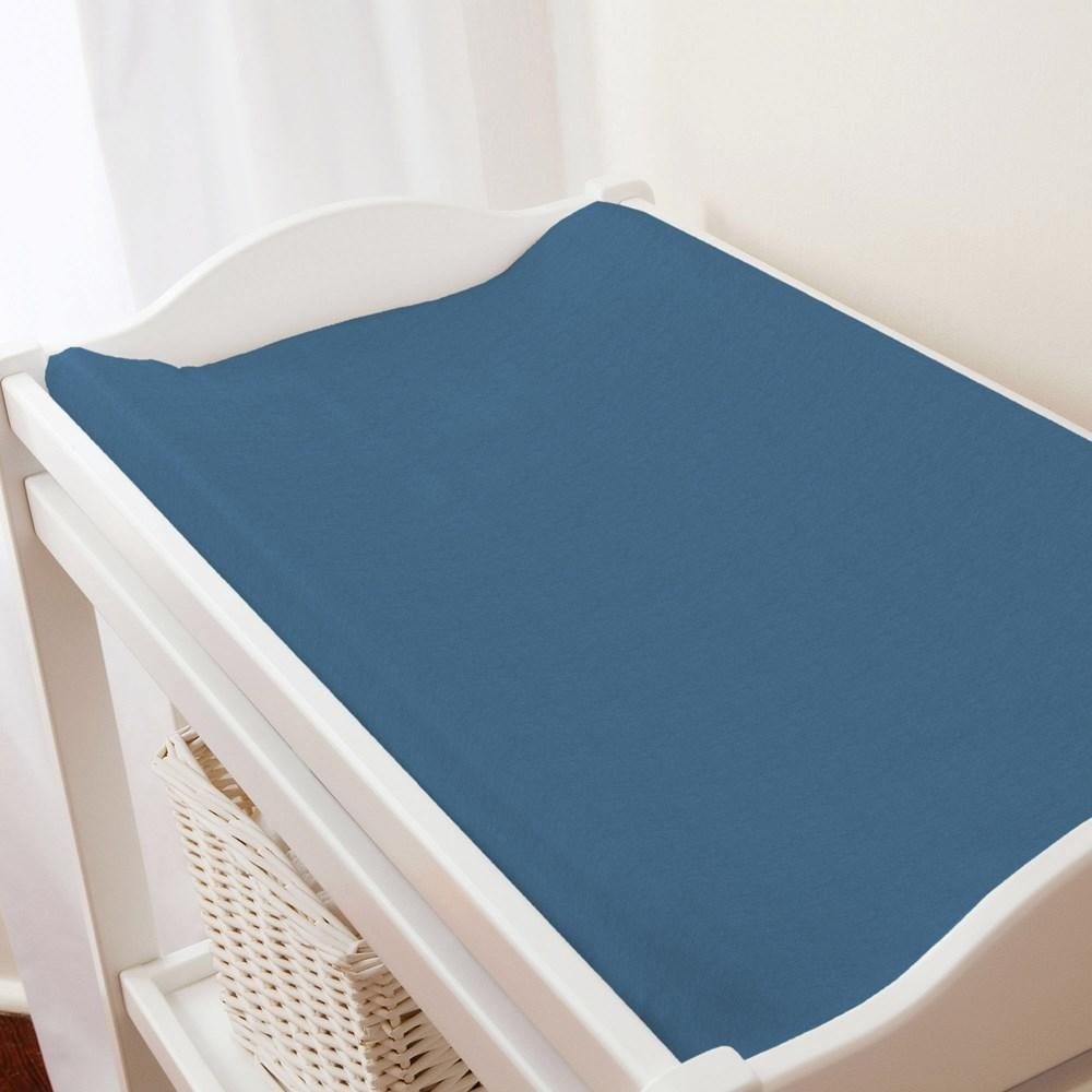 Carousel Designs Solid Capri Blue Changing Pad Cover by Carousel Designs   B06XJ4G9MX