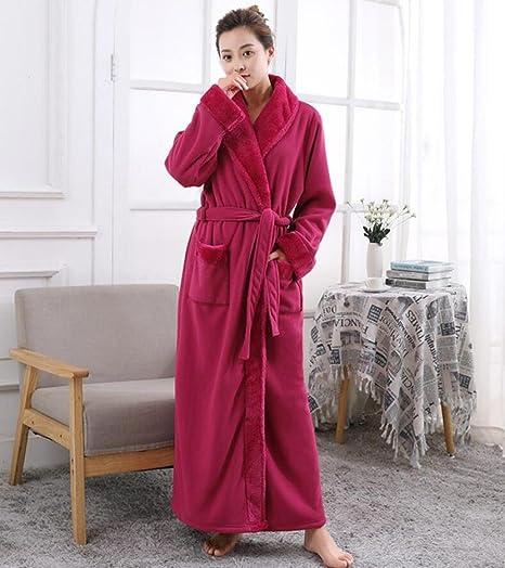 GL&G Invierno batas de franela - hombres y mujeres pareja modelos más gruesos camisón pijama Hotel