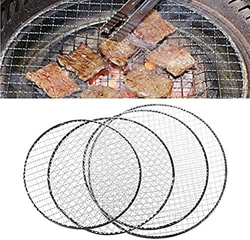 WESDOO Grille Barbecue Ronde Grille De Barbecue Barbecue Grillades Barbecue Griller Tapis Barbecue Grille Barbecue Grill Racks BBQ Grill Mat L