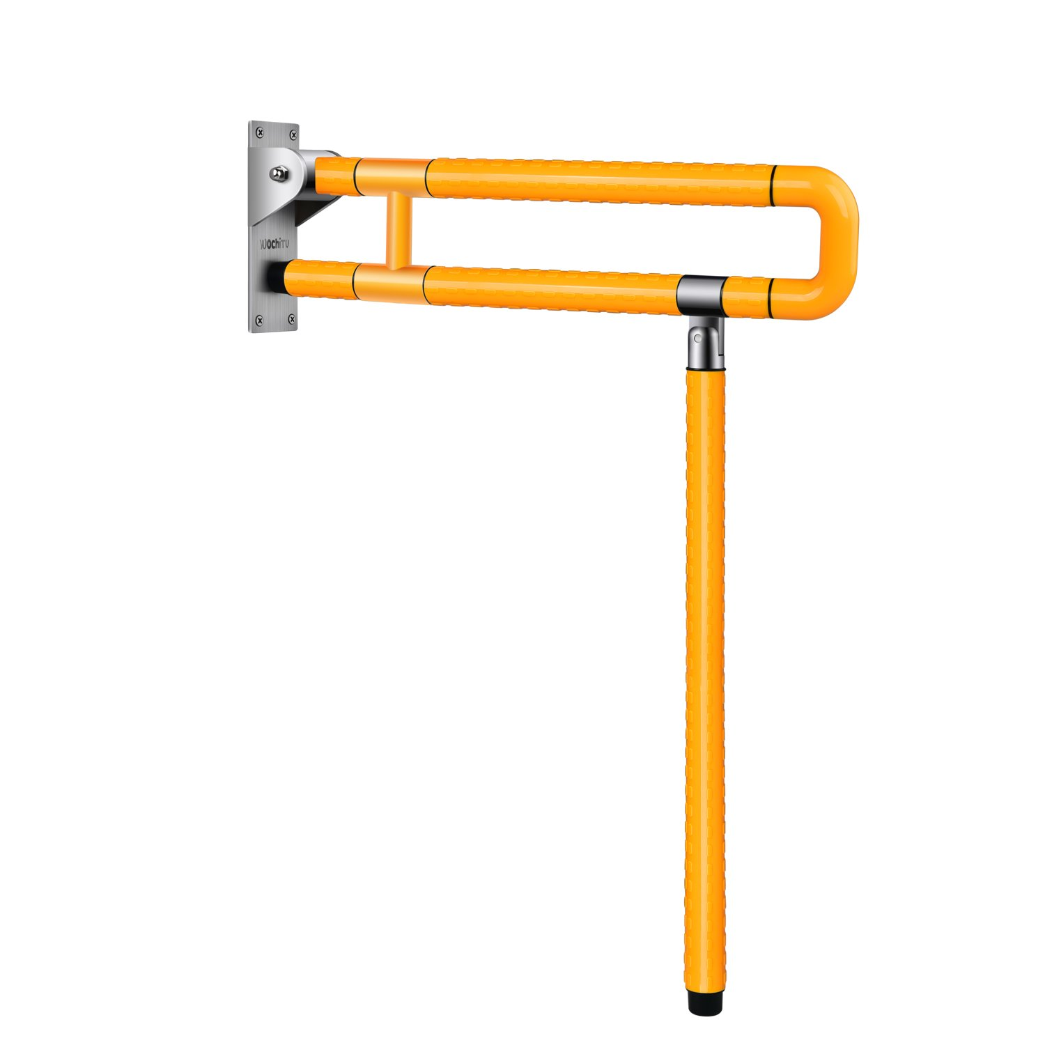 Handicap Rails Medical Safety Toilet Grab Bar Handicap Bathroom Seat Support Folding Safety Bars Handrail Handles for Disability Aid and Elderly Assistance (Yellow)