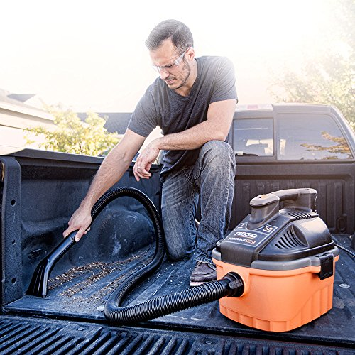 RIDGID Wet Dry Vacuums VAC4000 and Wet Includes Horsepower Vacuum Cleaner Dusting Brush, and Nozzle