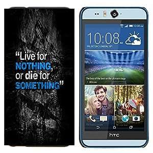 TECHCASE---Cubierta de la caja de protección para la piel dura ** HTC Desire Eye ( M910x ) ** --Vivos mueren Algo Nada inspirador texto