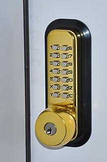 allweather mechanical keyless deadbolt door lock bright brass