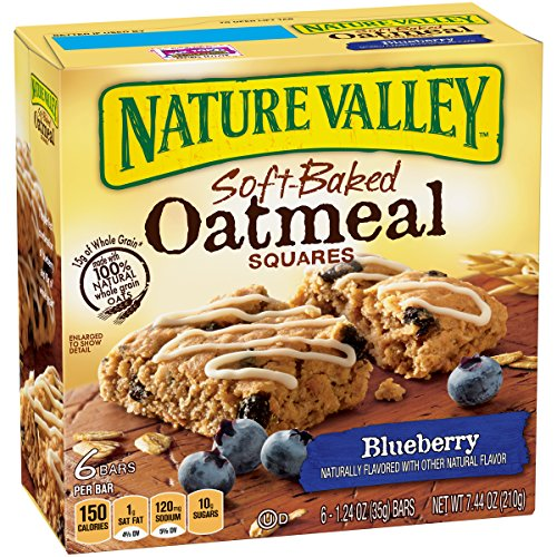 - Nature Valley Soft-Baked Oatmeal Squares, Blueberry, 6 Count