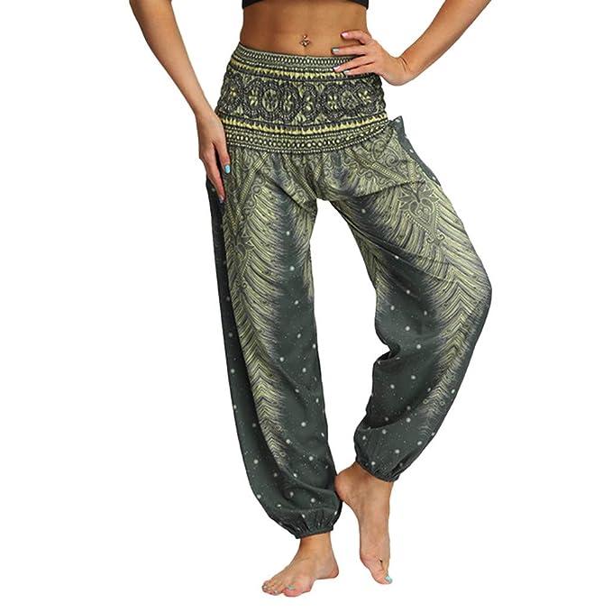 Men Women Casual Loose Hippy Yoga Trousers Baggy Boho ...