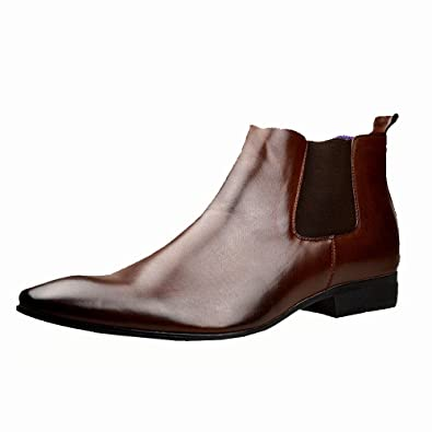 Mens Black Leather Smart Formal Casual Chelsea Boots Shoes UK SIZE 6 7 8 9  10 11 Amazoncouk Shoes  Bags