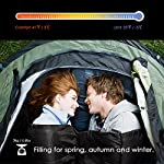Canway Double Sleeping Bag Flannel Sleeping Bags With 2 Pillows For Camping Backpacking Or Hiking Outdoor 2 Person Waterproof Sleeping Bag For Adults Or Teens Queen Size XL