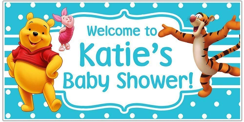 B01BA0ME16 Winnie the Pooh Baby Shower Banner Personalized Party Decoration 61I2Raoa-UL