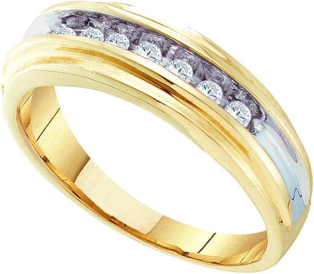 Jewels By Lux Anillo de Diamantes de Oro Amarillo para Hombre 9.5 ...