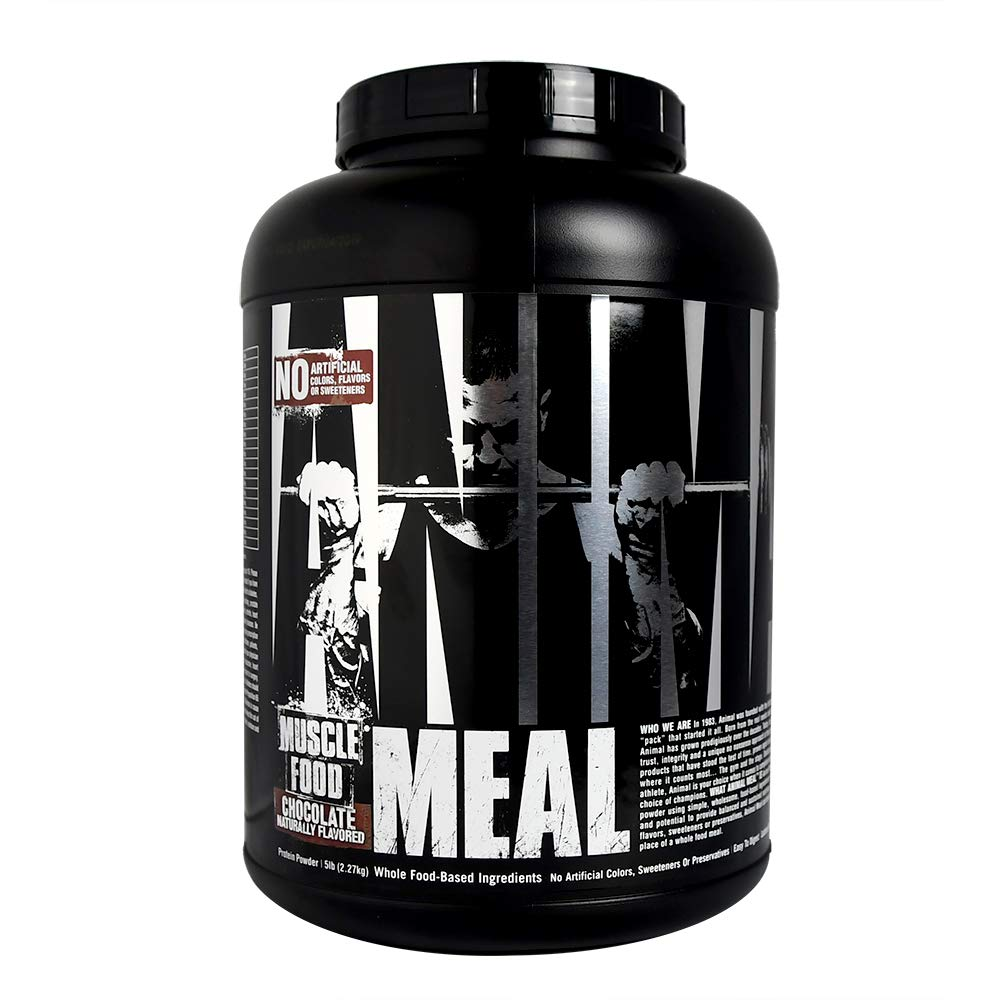 Animal Meal – All Natural High Calorie Meal Shake – Egg Whites, Beef Protein, Pea Protein, Rolled Oats, Sweet Potato, Chocolate 5 Pound