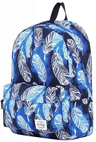 SIMPLAY Mochila Escolar Clásico | 44x30x12,5cm | Estampada de moda | Flor D204D, Plumas aztecas