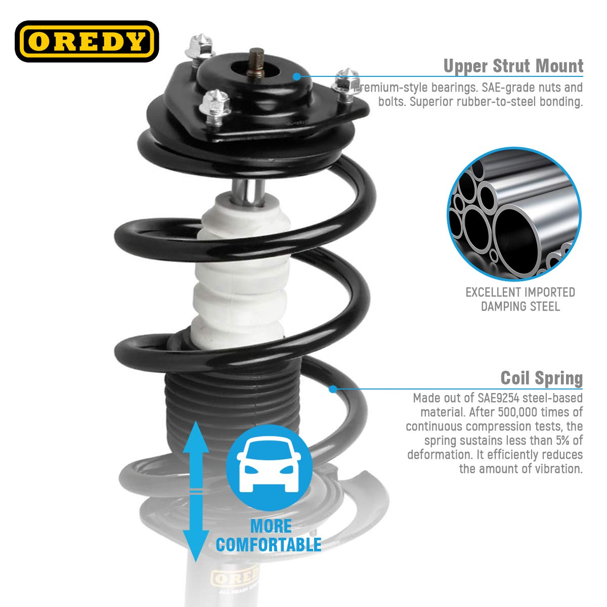 Front Quick Complete Struts /& Coil Spring Assemblies Compatible with 2004-2008 Toyota Solara Pair