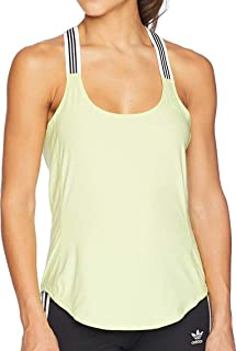 adidas Women's Performer Cross-Back Tank Top Semi Frozen Yellow X-Large