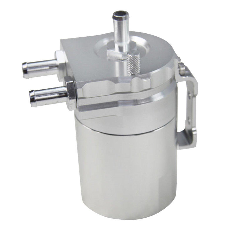 ALLOYWORKS Baffled Billet Aluminum Oil Catch Tank Can Reservoir Tank Universal ( Silver ) by ALLOYWORKS (Image #8)