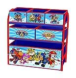 Paw Patrol Children's Toy Storage Unit Box Organiser Metal Multi Tray - Kids Bedroom Playroom Furniture
