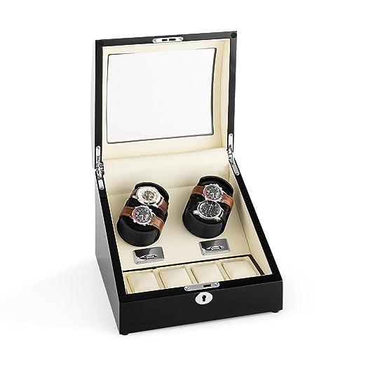 Klarstein Matterhorn • Estuche bobinadora para Relojes • Caja para Relojes • Hecho a Mano •