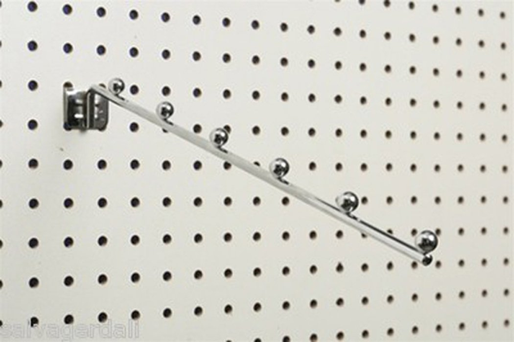 Pegboard Slatwall 6 Ball Waterfall Clothes Hanger Clothing Display Lot of 48 NEW